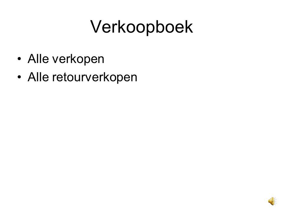 Inkoopboek Alle inkopen Retourinkopen