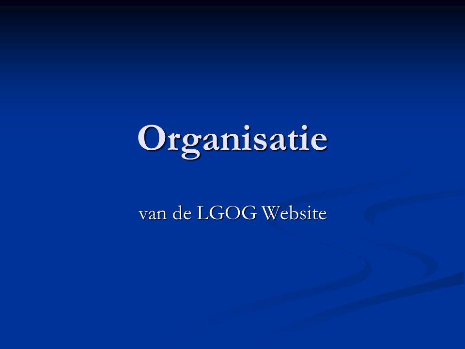 Organisatie van de LGOG Website