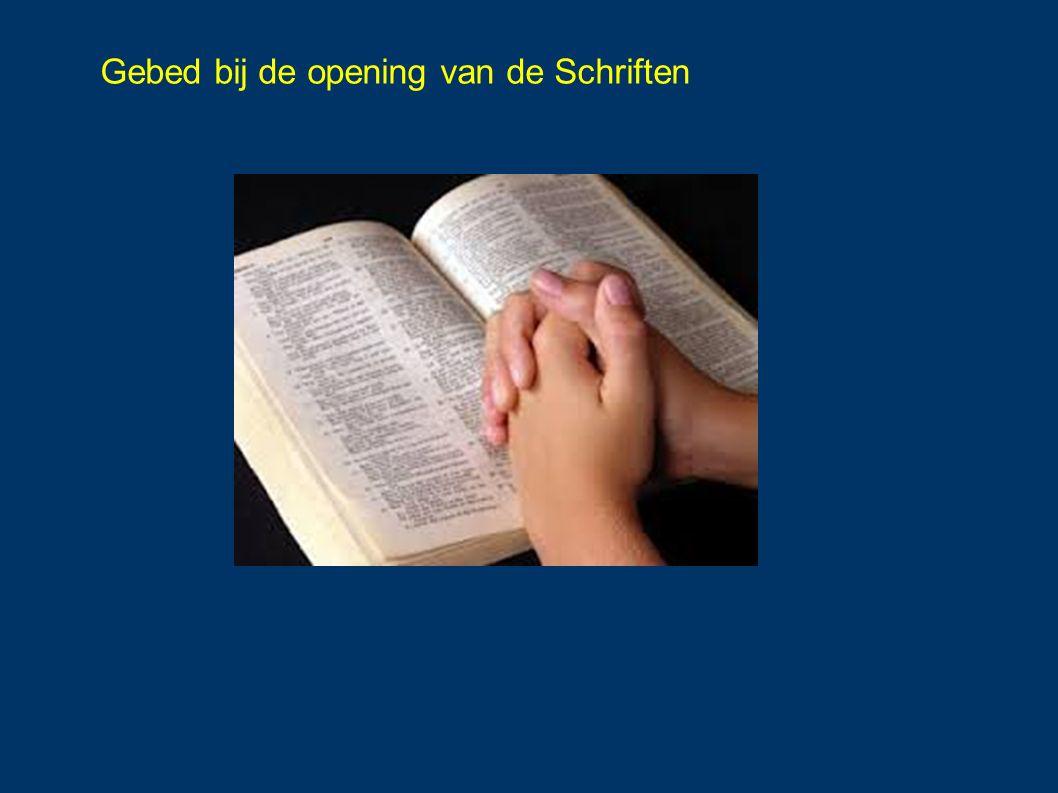 Gebed bij de opening van de Schriften
