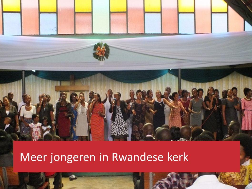 Meer jongeren in Rwandese kerk