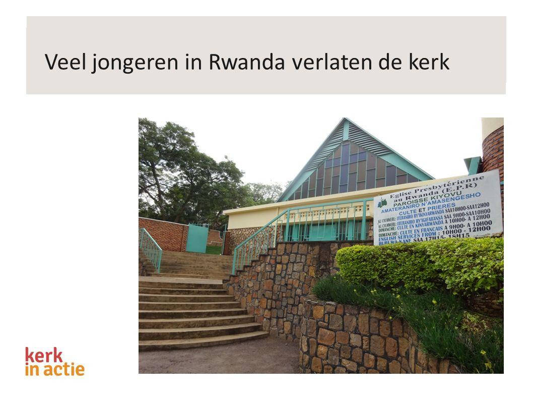 Veel jongeren in Rwanda verlaten de kerk