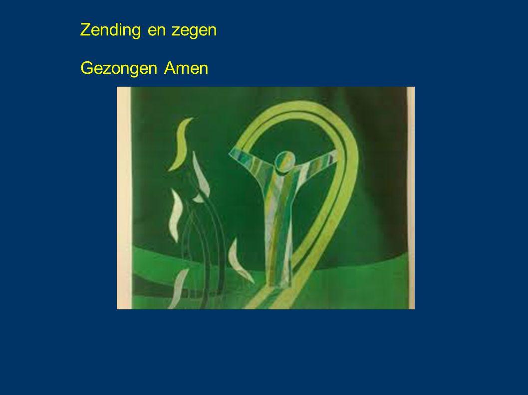Zending en zegen Gezongen Amen