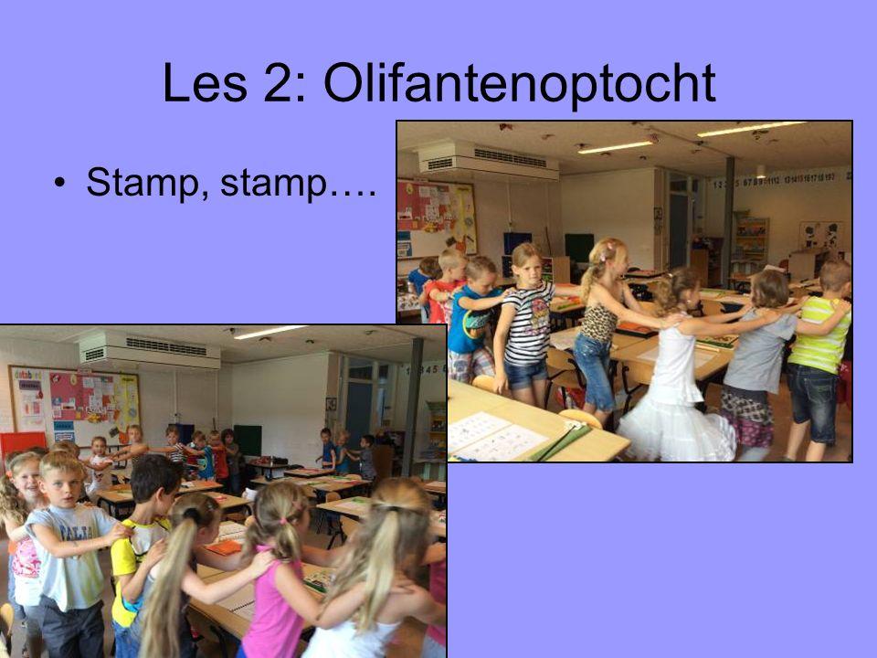 Les 2: Olifantenoptocht Stamp, stamp….
