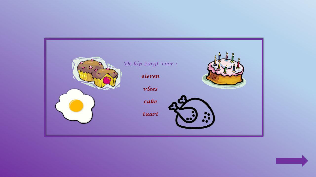 5.Teken het menu van de kip . zaden – wormen – maïs – insecten 6.Wat is een kloek .