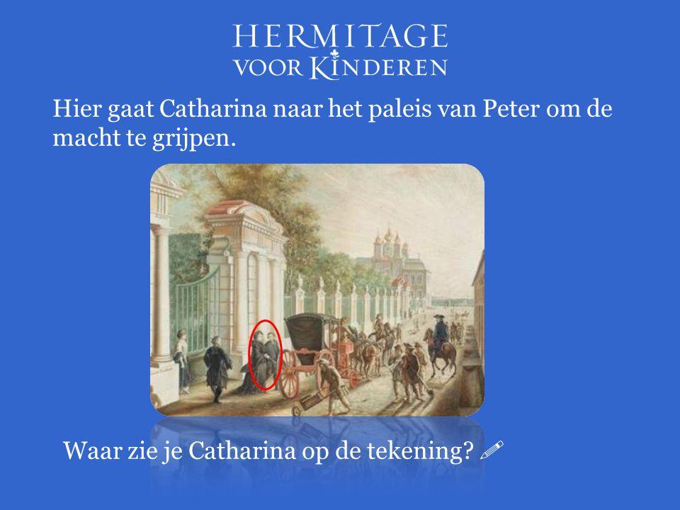 Hier gaat Catharina naar het paleis van Peter om de macht te grijpen.
