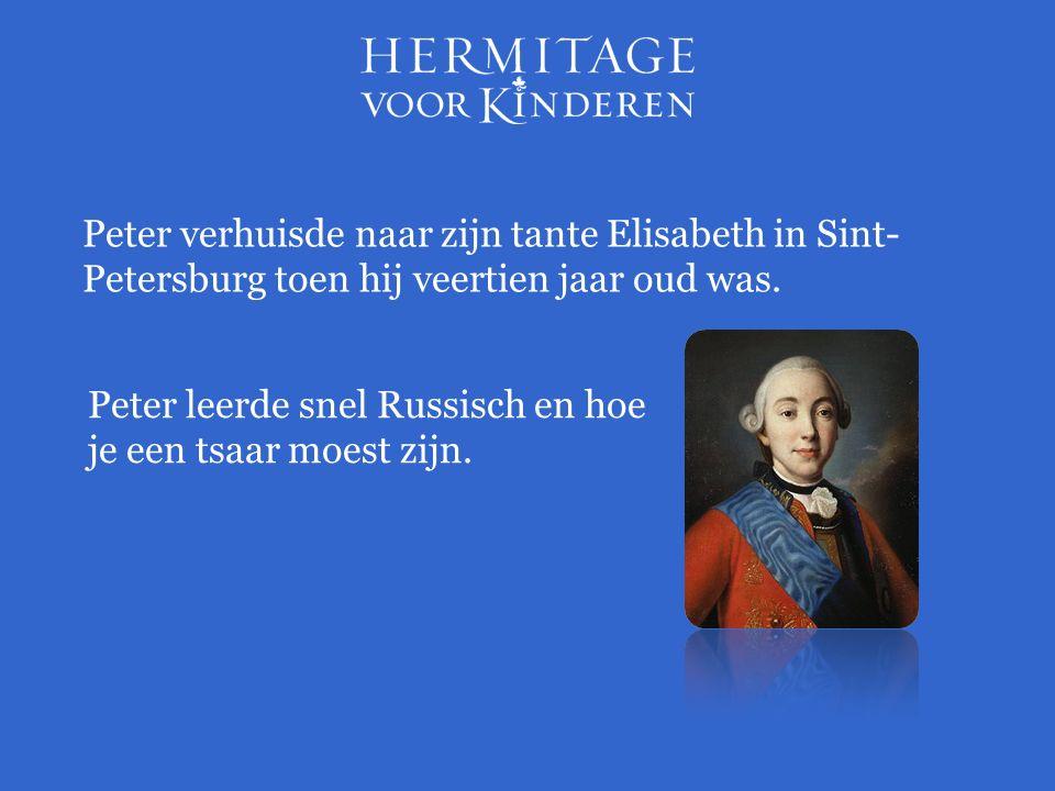 Peter verhuisde naar zijn tante Elisabeth in Sint- Petersburg toen hij veertien jaar oud was.