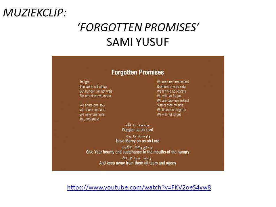 MUZIEKCLIP: 'FORGOTTEN PROMISES' SAMI YUSUF https://www.youtube.com/watch?v=FKV2oeS4vw8