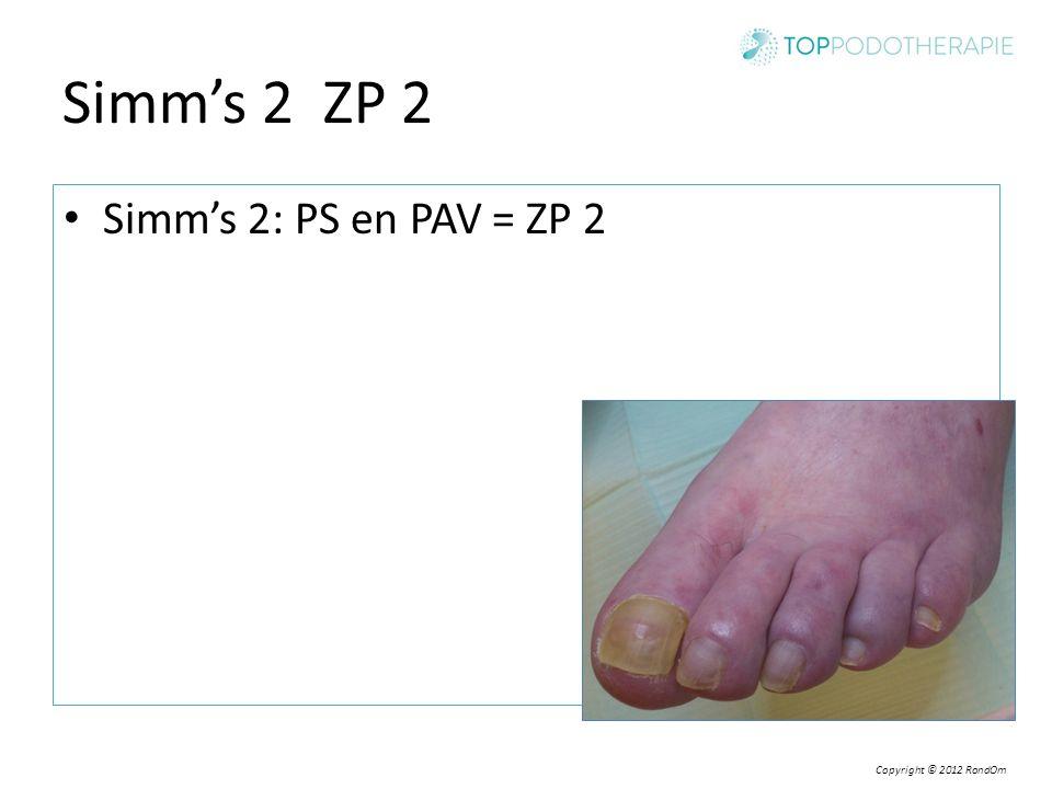 Copyright © 2012 RondOm Simm's 2 ZP 2 Simm's 2: PS en PAV = ZP 2