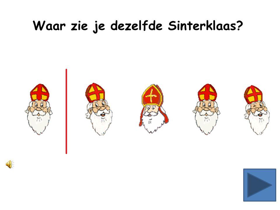 Waar zie je dezelfde Sinterklaas