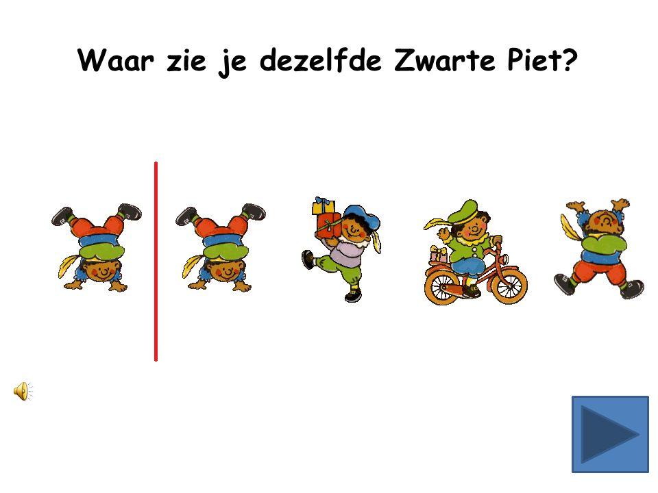 Waar zie je dezelfde Zwarte Piet