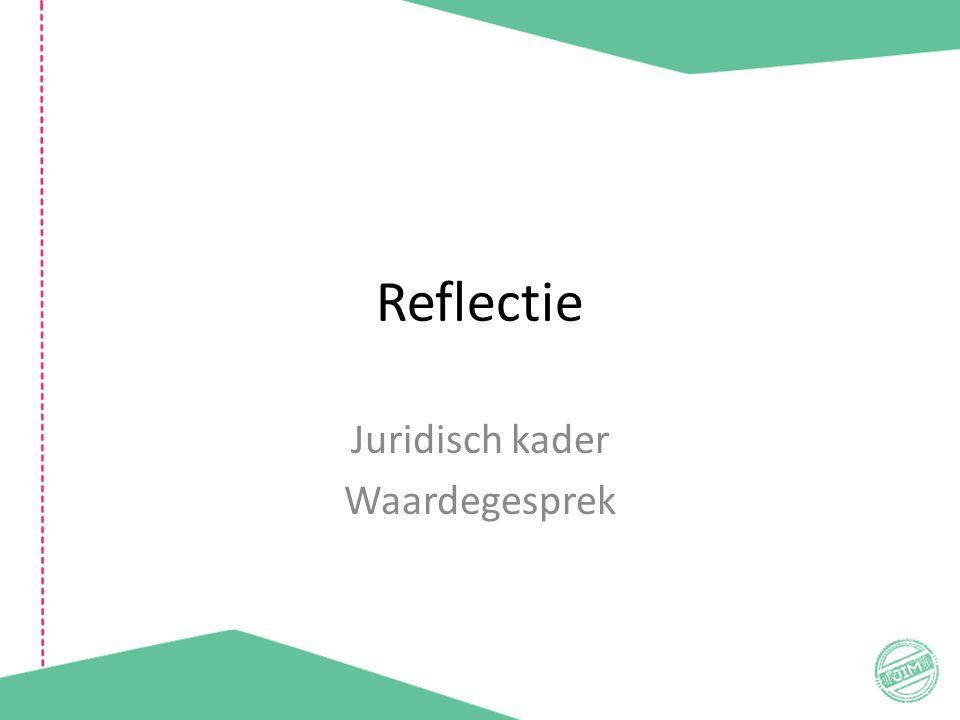 Reflectie Juridisch kader Waardegesprek
