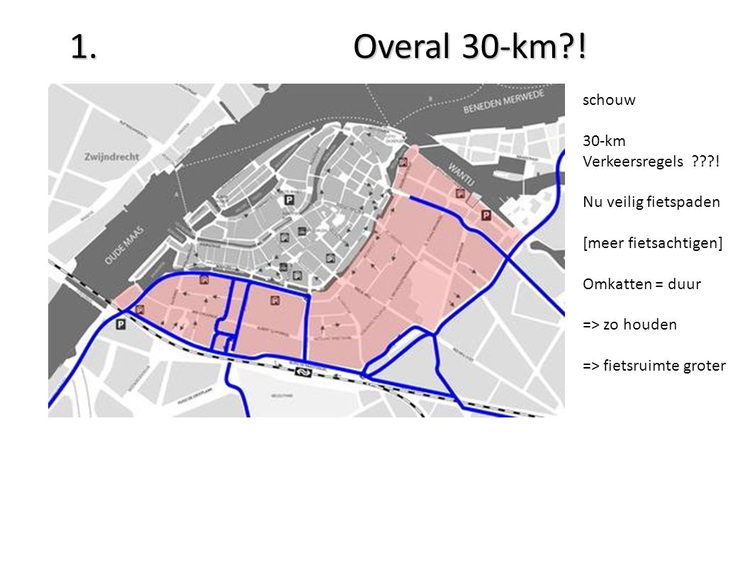 1. Overal 30-km?. schouw 30-km Verkeersregels ???.