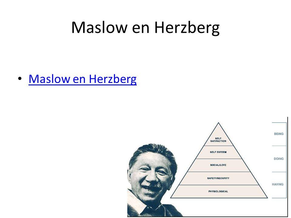 Maslow en Herzberg