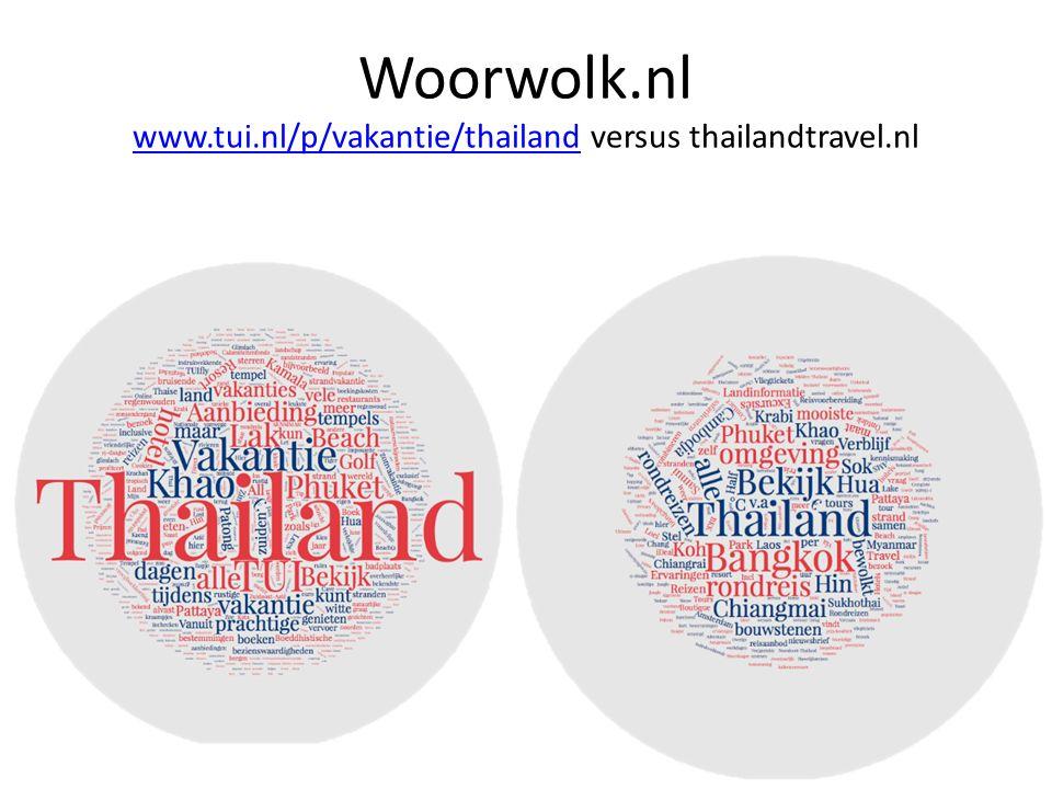 Woorwolk.nl www.tui.nl/p/vakantie/thailand versus thailandtravel.nl www.tui.nl/p/vakantie/thailand