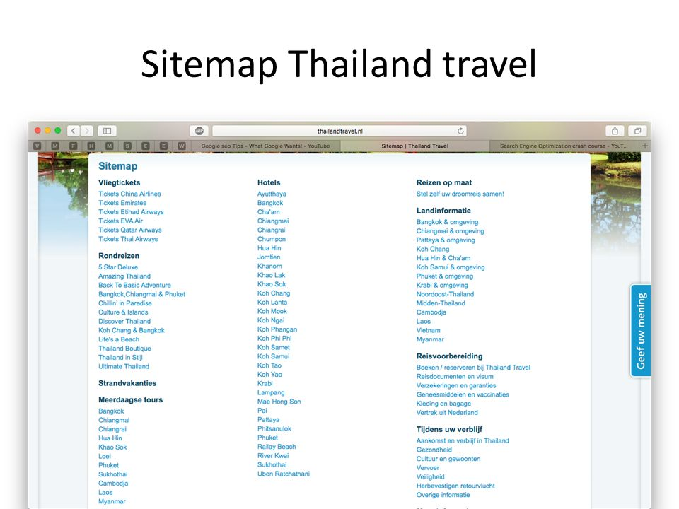 Sitemap Thailand travel