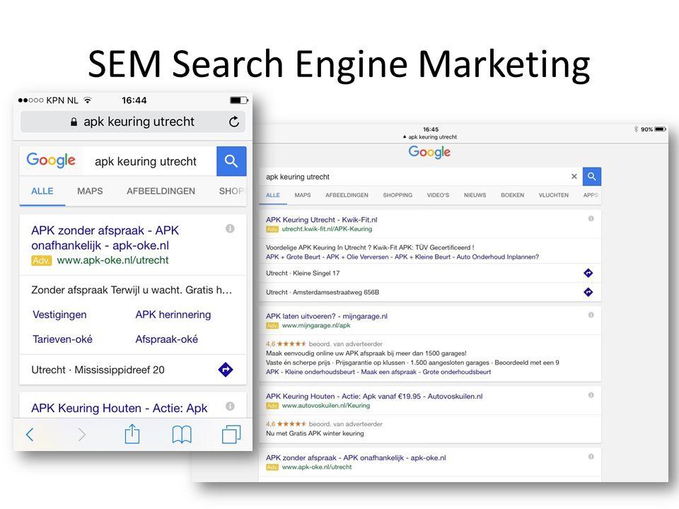 Andere bronnen voor meer zoekwoorden: - Huidige website; - Huidige reclame-uitingen; - Websites van anderen.