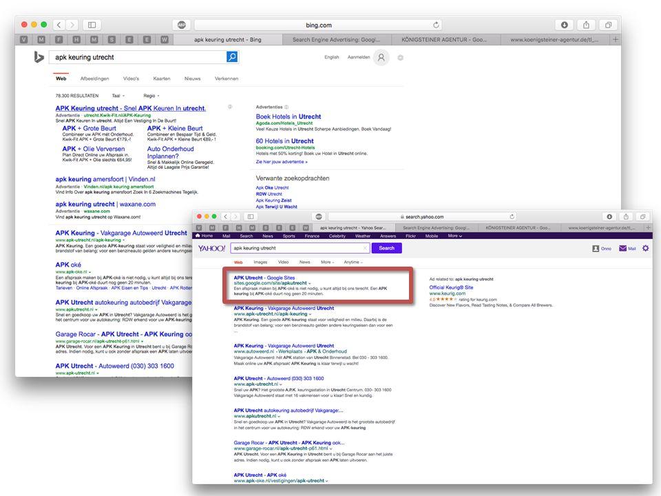Wat ziet de zoekmachine