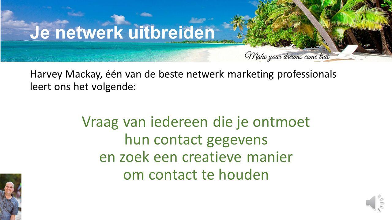 Netwerkmarketing is een vak Netwerkmarketing is een vak dat je kan leren, je moet je bekwamen.