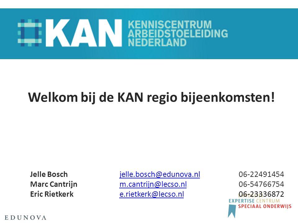 Welkom bij de KAN regio bijeenkomsten.