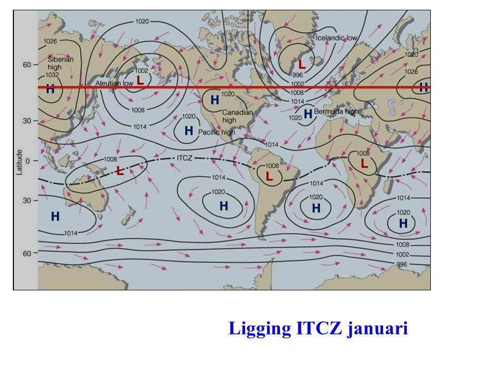 Ligging ITCZ januari