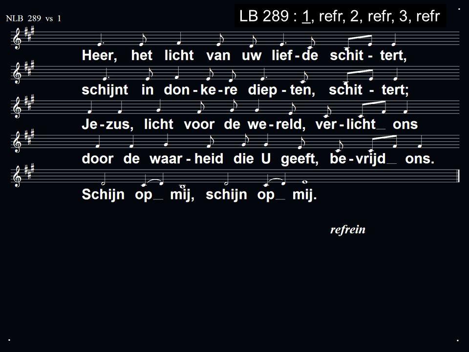 ... LB 289 : 1, refr, 2, refr, 3, refr