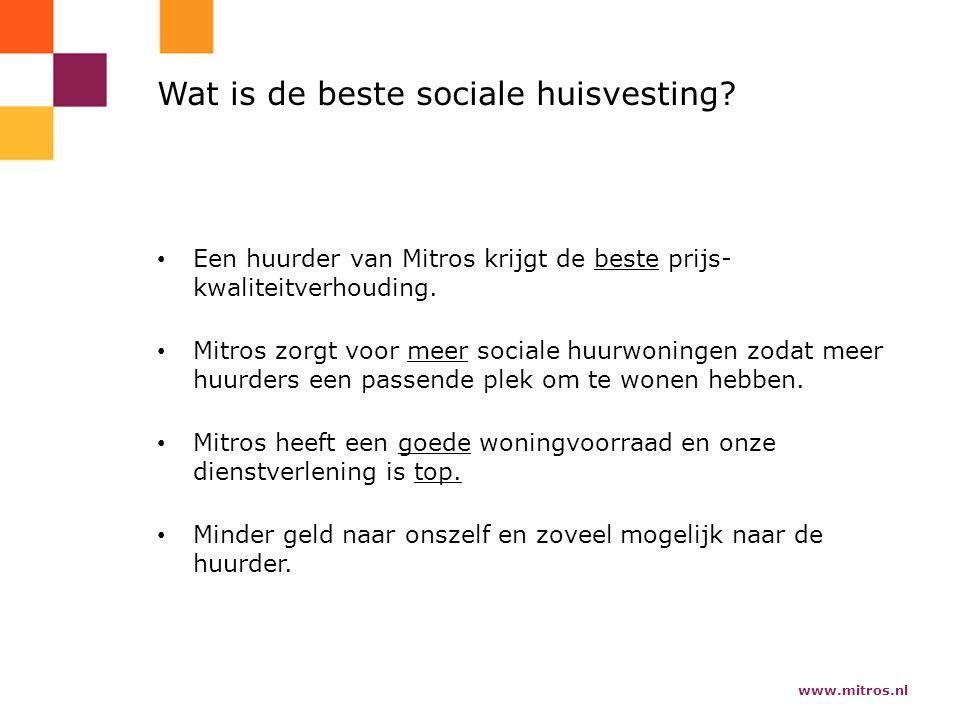 www.mitros.nl Wat is de beste sociale huisvesting.