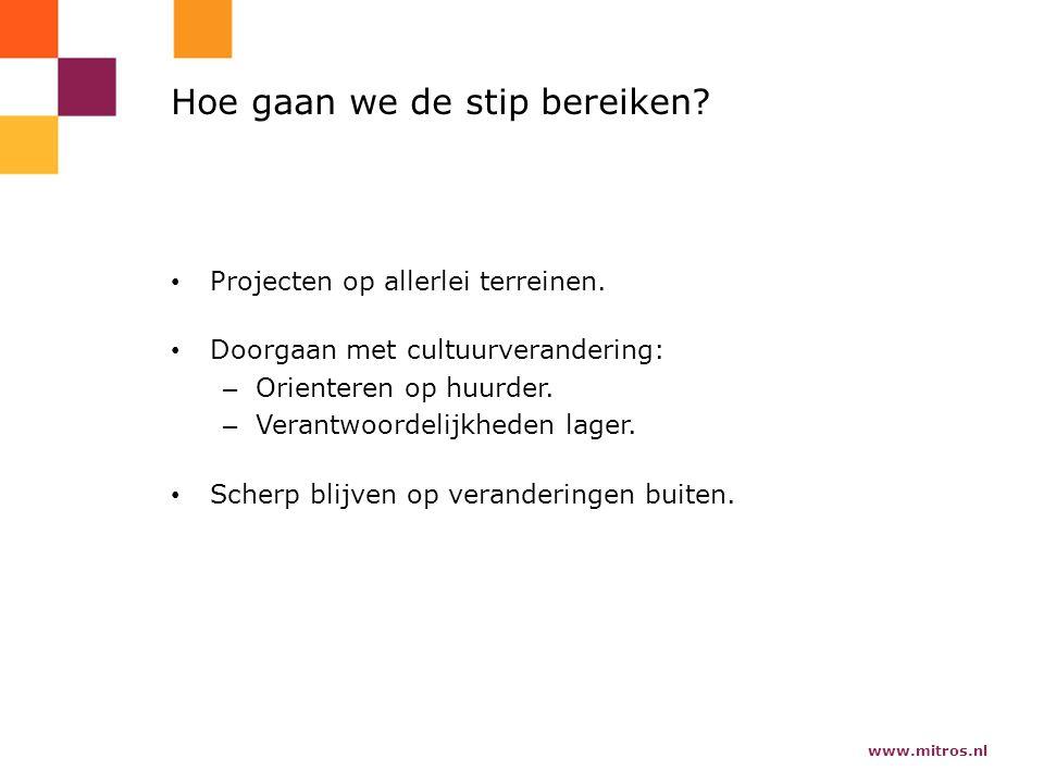 www.mitros.nl Hoe gaan we de stip bereiken. Projecten op allerlei terreinen.