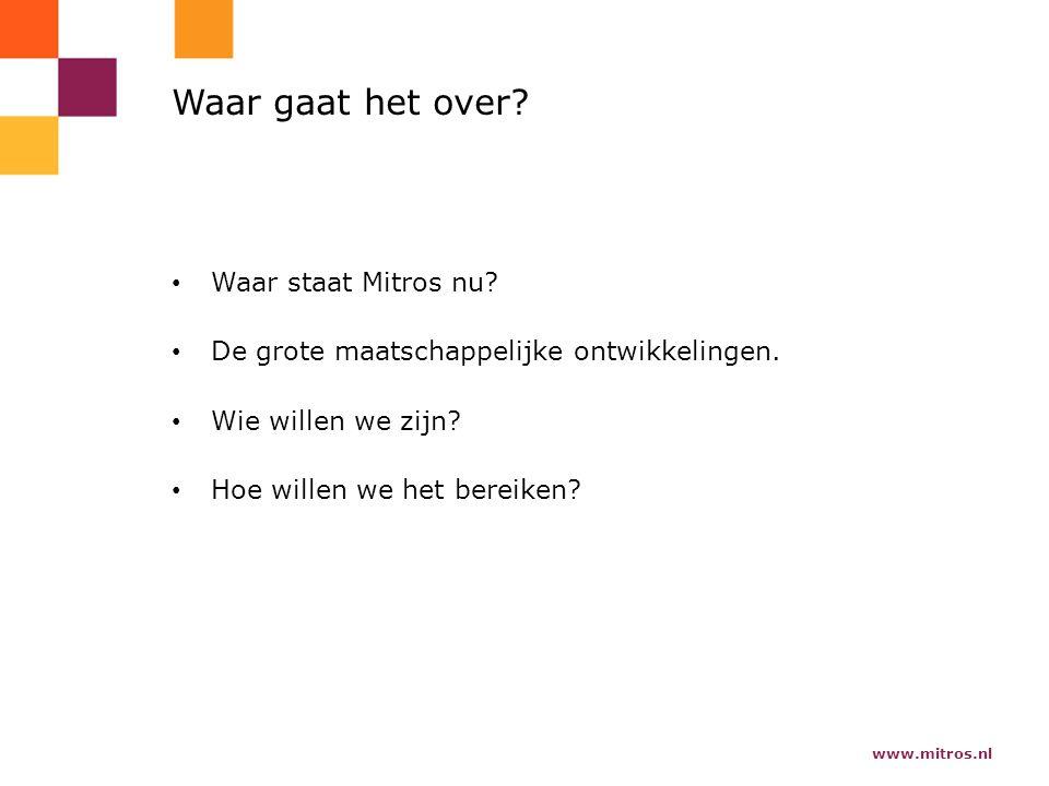 www.mitros.nl Waar gaat het over. Waar staat Mitros nu.
