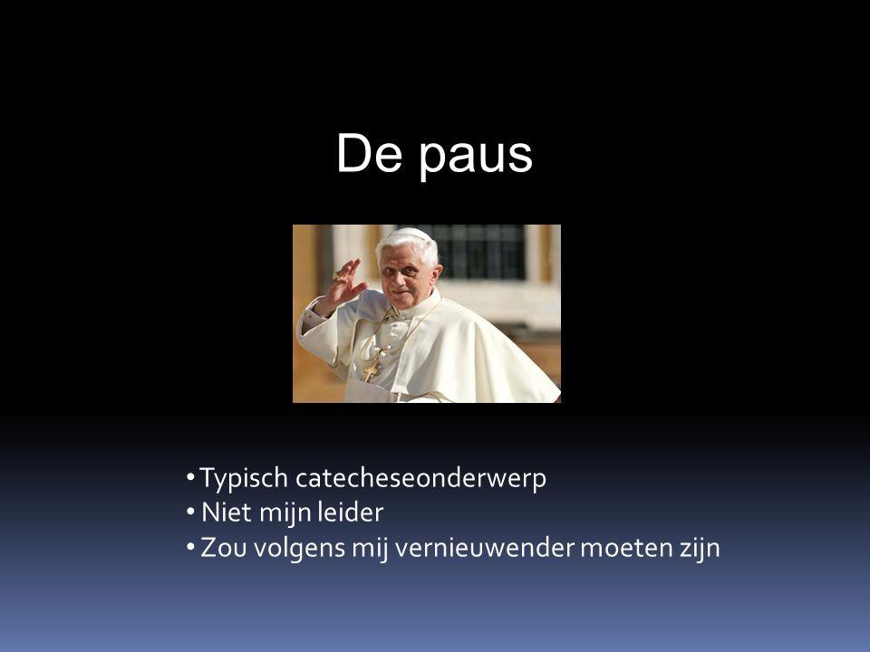 De paus Typisch catecheseonderwerp Niet mijn leider Zou volgens mij vernieuwender moeten zijn