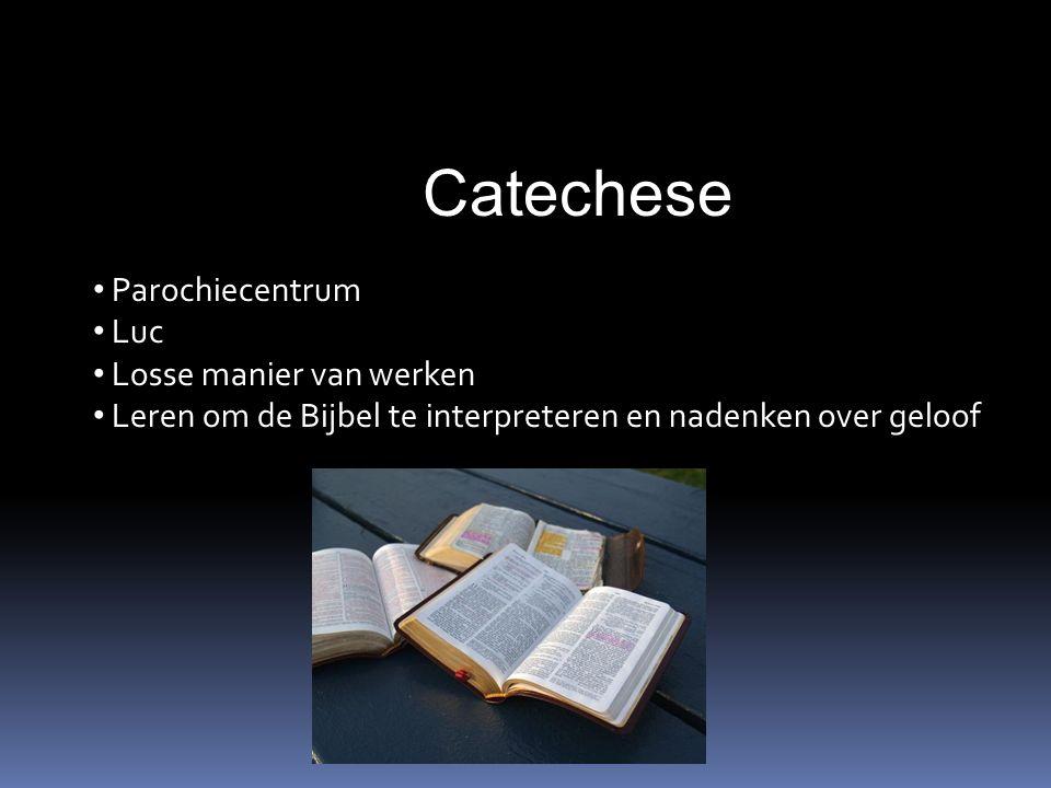 Catechese Parochiecentrum Luc Losse manier van werken Leren om de Bijbel te interpreteren en nadenken over geloof