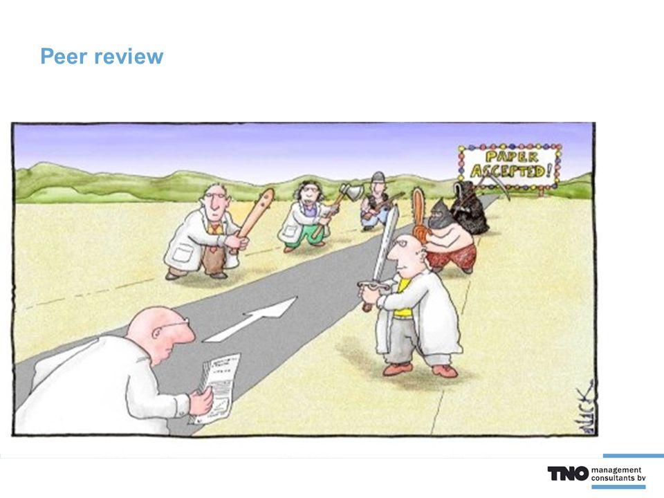 Iets meer achtergrond  Peer reviews in de wetenschap zijn bedoeld voor zowel het versterken als het corrigeren van wetenschappelijk werk.