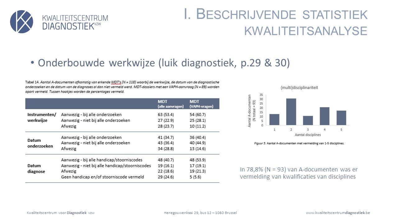 Kwaliteitscentrum voor Diagnostiek vzwwww.kwaliteitscentrumdiagnostiek.beHenegouwenkaai 29, bus 12 – 1080 Brussel Onderbouwde werkwijze (luik diagnostiek, p.29 & 30) I.
