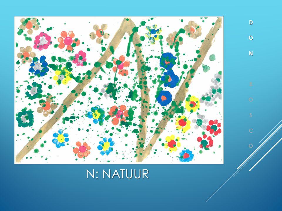 N: NATUUR  School met aandacht voor natuur en milieu  MOS werking (Milieuzorg Op School)