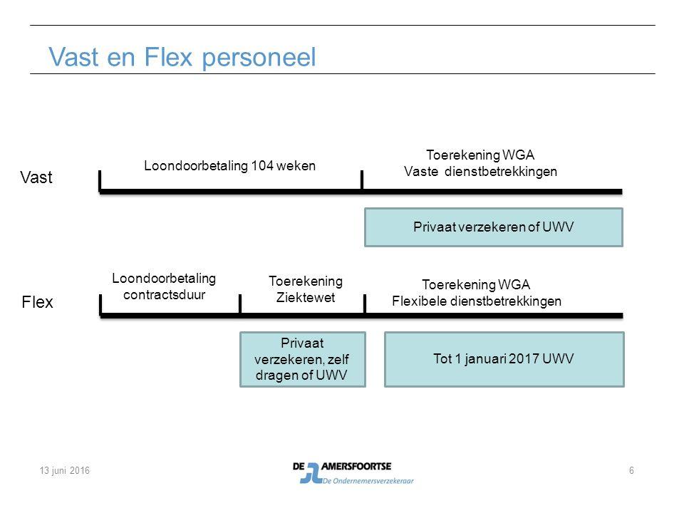 Vast en Flex personeel Loondoorbetaling 104 weken Loondoorbetaling contractsduur Toerekening Ziektewet Toerekening WGA Flexibele dienstbetrekkingen To