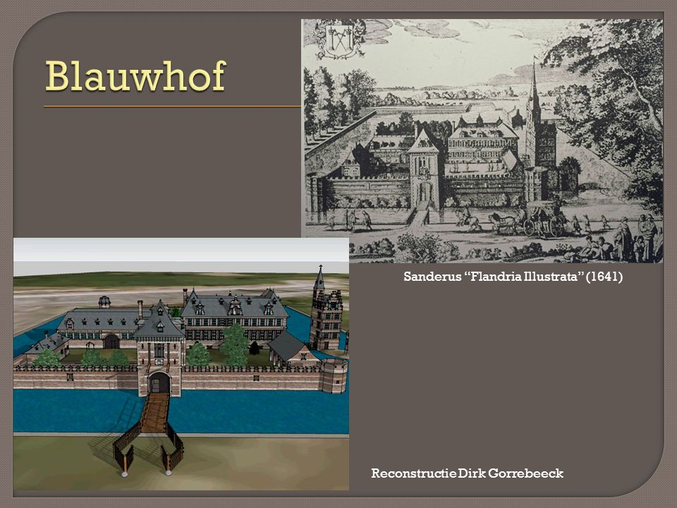Sanderus Flandria Illustrata (1641) Reconstructie Dirk Gorrebeeck