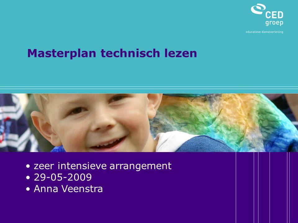 Masterplan technisch lezen zeer intensieve arrangement 29-05-2009 Anna Veenstra