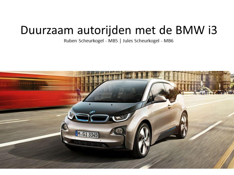 Duurzaam autorijden met de BMW i3 Ruben Scheurkogel - MB5 | Jules Scheurkogel - MB6