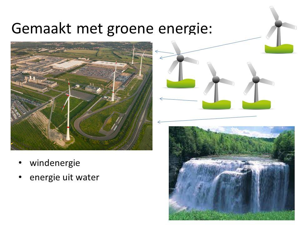 Gemaakt met groene energie: windenergie energie uit water