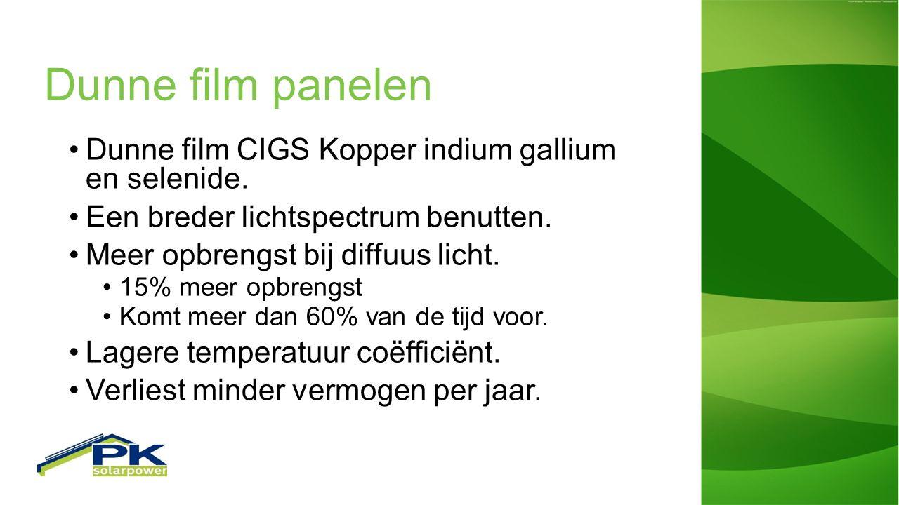 Dunne film panelen Dunne film CIGS Kopper indium gallium en selenide.