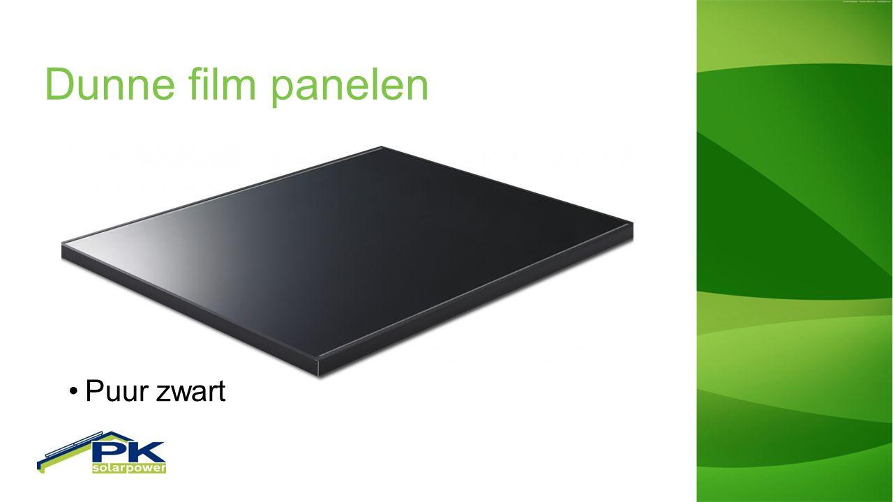 Dunne film panelen Puur zwart