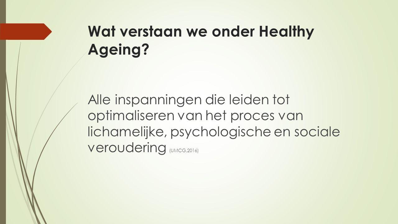 Wat verstaan we onder Healthy Ageing.