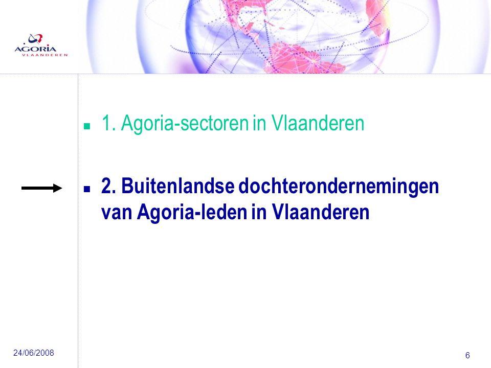 24/06/2008 6 n 1.Agoria-sectoren in Vlaanderen n 2.