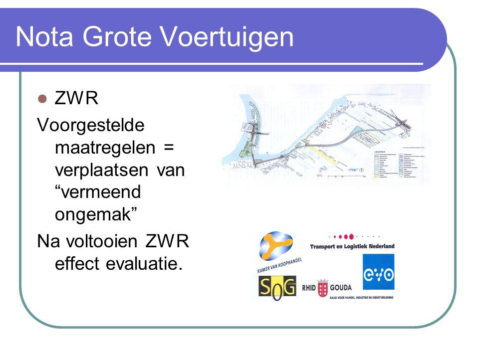 """ZWR Voorgestelde maatregelen = verplaatsen van """"vermeend ongemak"""" Na voltooien ZWR effect evaluatie."""