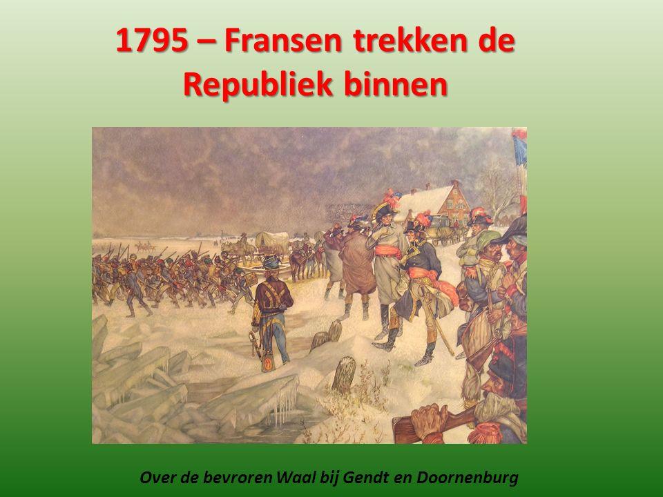 1795 – Fransen trekken de Republiek binnen Over de bevroren Waal bij Gendt en Doornenburg