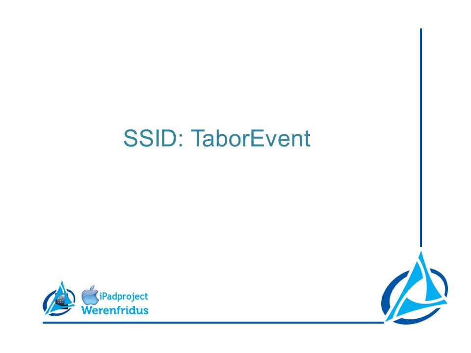 SSID: TaborEvent