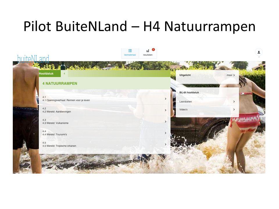 Pilot BuiteNLand – H4 Natuurrampen