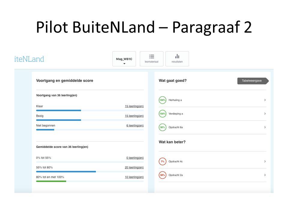 Pilot BuiteNLand – Paragraaf 2