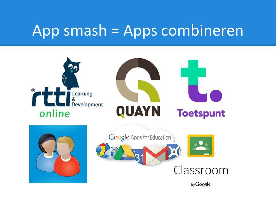 App smash = Apps combineren