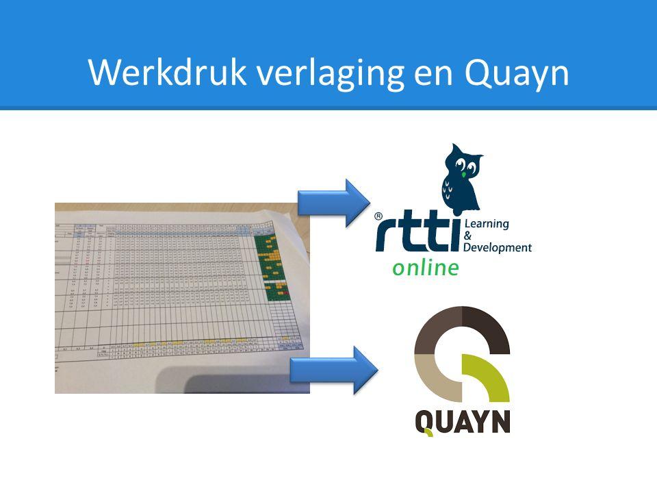 Werkdruk verlaging en Quayn