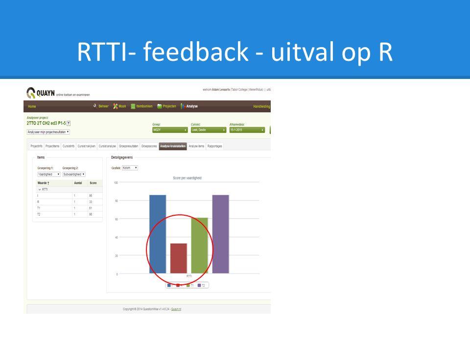 RTTI- feedback - uitval op R